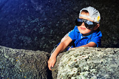 Young climber Stock Image
