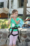 Young climber training Stock Images