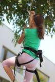 Young climber training Royalty Free Stock Photos