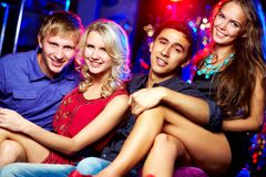 Young clubbers royalty free stock images