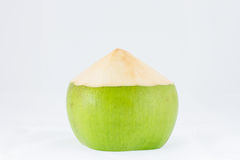 Young coconut fruit on white background Stock Photo