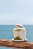 Young coconut  refreshment drink cool. Young coconut for refrshment drinking Stock Photos