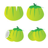 Young coconut set vector design Royalty Free Stock Photo