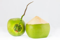 Young coconuts on white background Stock Photography