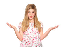 Young cofused girl Stock Images