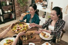 Colleague gathered together for Christmas dinner Royalty Free Stock Image