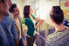 Young colleagues in discussion at office Stock Photos