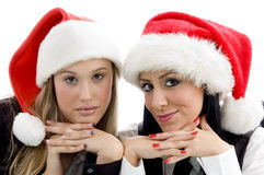 Young colleagues wearing christmas hat Royalty Free Stock Photo