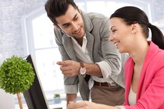 Young colleagues working together Stock Photography