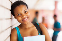 Young college girl Stock Images
