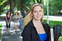 Young College Girl Portrait Royalty Free Stock Photo