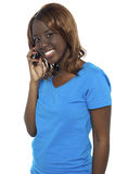Young college girl talking to her friend Royalty Free Stock Photo