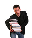 Young College Student and Books Stock Images