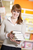 Young college student in a library Royalty Free Stock Images