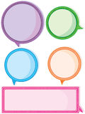 Colorful Speech Space_eps Royalty Free Stock Image