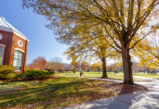Young Commons at Elon University. Young Commons (Quad) and Speakers Corner at Elon University in Elon, North Carolina. Decicated in 2000 royalty free stock photos