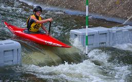 Young Competitor 48 Canoe Stock Photos