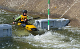 Young Competitor 131 Kayak Royalty Free Stock Image