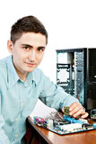 Young computer engineer Stock Photography