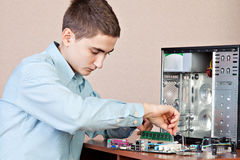 Young computer engineer Stock Images