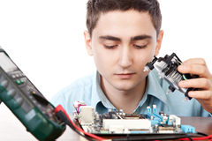 Young computer engineer Royalty Free Stock Photo