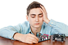 Young computer engineer Royalty Free Stock Images