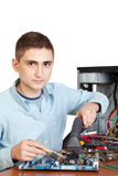 Young computer engineer Royalty Free Stock Image