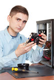 Young computer engineer Stock Photos