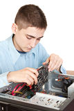 Young computer engineer Royalty Free Stock Photos