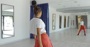 Passionate dancer in studio stock video footage