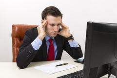 Young concerned businessman Stock Photography