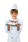 The young confectioner Royalty Free Stock Photos