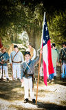 Young Confederate Soldier. Young solders awaiting orders at the Fall Muster at Beauvior, the Jefferson Davis House (confederate White House), in Biloxi Royalty Free Stock Image