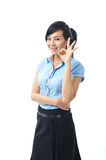 A young confident asian business woman smiling Stock Images