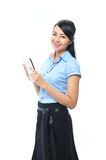 A young confident asian business woman smiling Royalty Free Stock Images