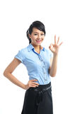 A young confident asian business woman smiling Stock Photography