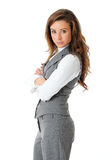 Young confident attractive businesswoman Stock Photography