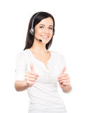 Young, confident and beautiful customer support operator isolate Stock Photography