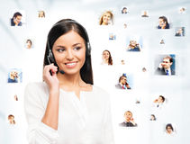 Young, confident and beautiful customer support operator Royalty Free Stock Photo