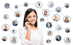 Young, confident and beautiful customer support operator Royalty Free Stock Images