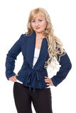 Young confident blond business woman Royalty Free Stock Photos