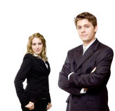 Young confident business couple Royalty Free Stock Images