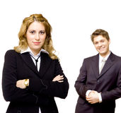 Young confident business couple Royalty Free Stock Photography