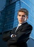 Young confident business man Stock Photos