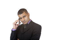 Young confident business man makes telephone call Royalty Free Stock Photo