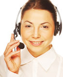 Young confident business woman operator Royalty Free Stock Photo