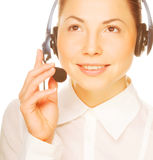 Young confident business woman operator Royalty Free Stock Images