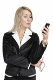 Young confident business woman on the phone. Stock Images
