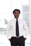 Young Confident Businessman royalty free stock image