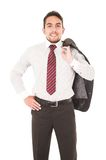 Young confident businessman posing Stock Image